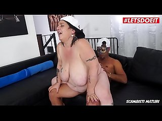 LETSDOEIT - Chubby Mature Granny Rides a Big Young Cock