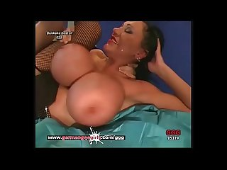 German Mom Loves Cum on her Pretty face And Massive Tits - German Goo Girls