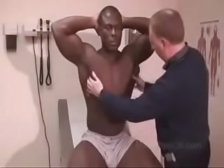 Medical ABUSING. Black Football Player