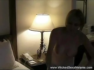 Mom strokes and sucks sons cock