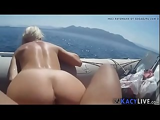 Fucking gf on our boat kacylive com