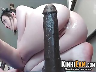 Big dick Anal ride ends in a huge Squirt kinkicam com