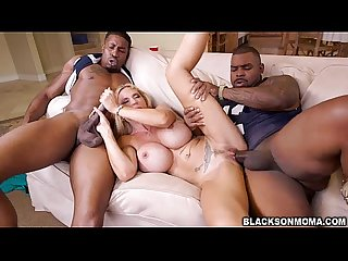 Hot threesome sex with horny milf brooke tyler