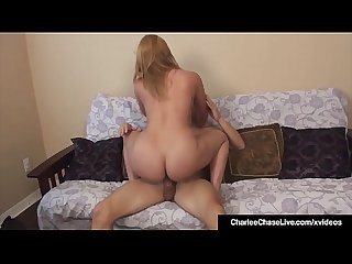 Hot MIlf Charlee Chase Watches Hubby CreamPie Girlfriend?!
