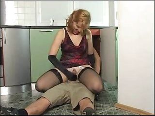 Mature milf takes care of the young plummer
