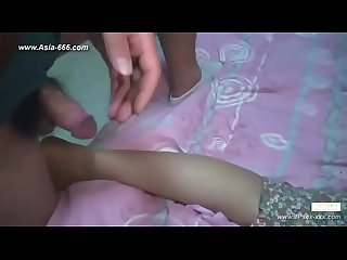 Chinese amateur footjob 103
