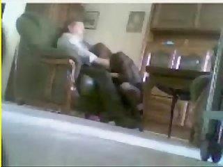 Hidden cam catches mum and dad home alone having fun