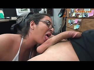 Busty woman with glasses pussy screwed