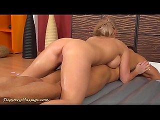 Real slippery big cock nuru Sex Massage