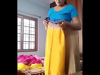 Swathi naidu latest videos while shooting dress change part -5