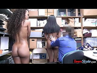 Big boobed ebony teen thieves fucked a perv LP officer