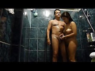 Flory my girlfriend and I in the shower (erotic not porn)