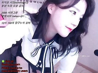 Korean bj in uniform and stockings live at livekojas com