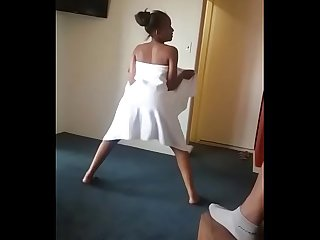 South African girl dancing