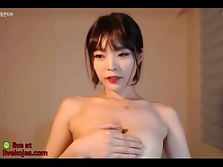Busty Korean massage her big boobs