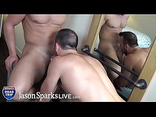 JasonSparksLive - Muscle stud boyfriends suck cock before wild banging