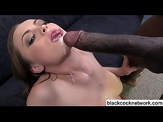 White trash eats thick cum