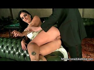 Amazing brunette slut honey demon gives