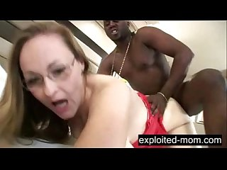 Kinky older Mature lady fucks A black cock in interracial video