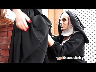 Two catholic nuns enjoying lesbian sex