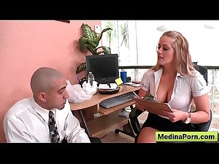 Secretary with big tit get fucked by her boss 15