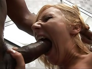 Huge black cock for interracial blow jobs