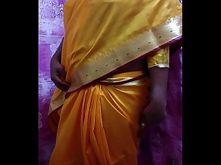 Desi Hot Girl Showing Her Assets Stripping In Saree