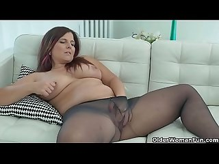 Curvy and Spanish milf Montse Swinger dildos craving cunt