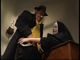 Shameless nun anal fucked in her abbey