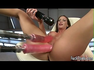 Solo masturbating babe toys pussy and ass