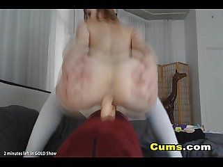Gorgeous blonde camgirl masturbating her tight pussy