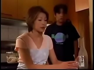 Japanese stepmom gets good fuck