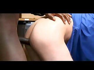 Tiny twink shoplifter double dick bareback fuck
