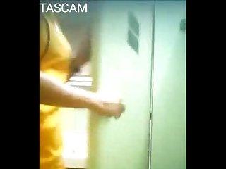 Hidden camgirl yellow suit 5