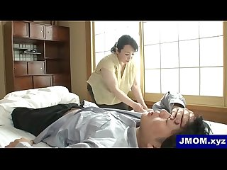 Plump big ass japanese mom and son creampie