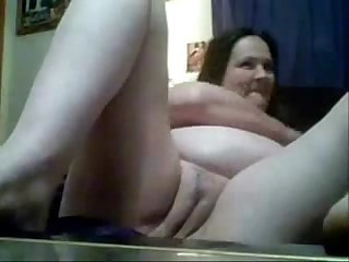 My naked mom masturbating at PC. Hidden cam