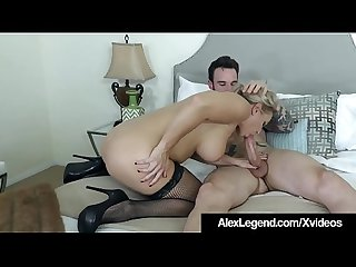 Blonde angel allwood gets a huge french cock by alex legend