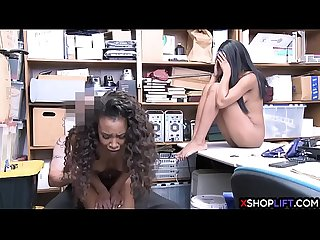 Ebony shoplifting teens got fucked in a threesome sex