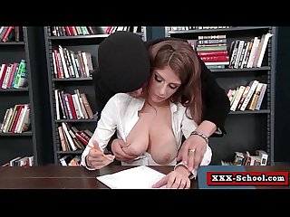 Big tit teacher fucked by student in classroom 17