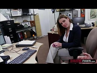 Hot and brunette business woman gets her pussy fucked by shawn
