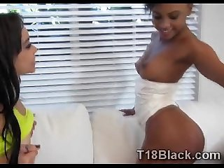 Horny ebony teens surprised sending naughty photos