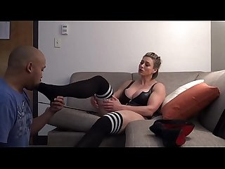 Rapture - Big Tit Muscle Girl Foot Worship and Spanking