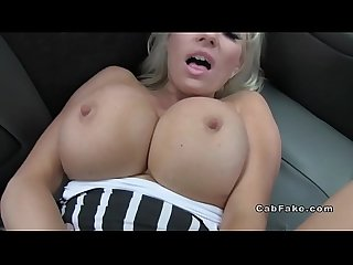 Blonde pornstar has debut in fake taxi