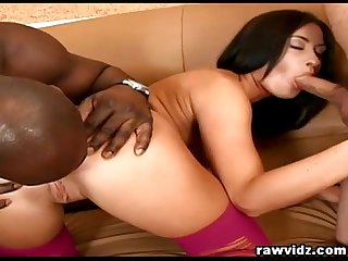 Big Black And White Cocks Combo In My Ass!