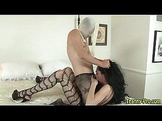 Shemale prozz fucks sissy
