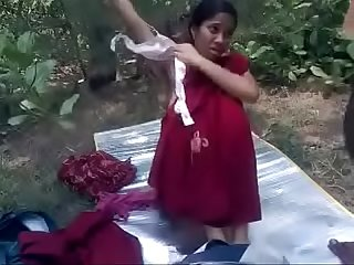 Hot Desi village babe fucked outdoors by bf hot hard fuck 15 min