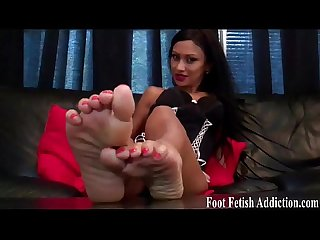 Shoving our pretty feet down your throat