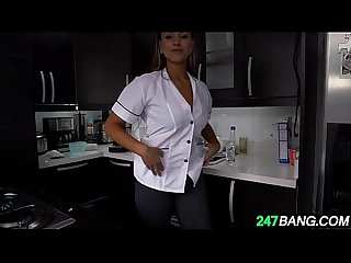 Beautiful latina maid gets seriously fucked for cash 1 1
