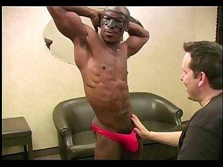 Sucking black muscle boy
