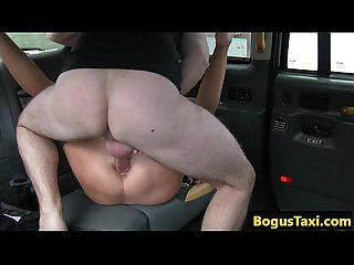 European slut pussydrilled by taxi driver POV